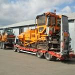 Transport av asfaltsmaskiner