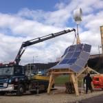 Bil 20 lyfter solpaneler